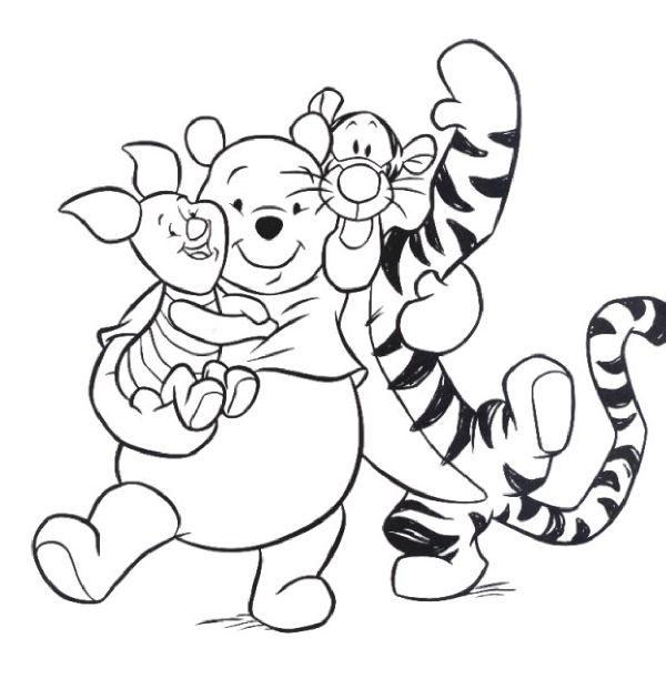 pooh tigger piglet color pages pinterest