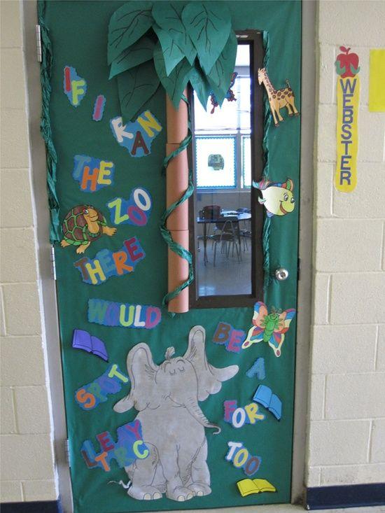 Dr seuss inspired door displays bulletin board ideas pinterest