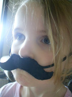 craft idea: cut out felt mustaches and attach to elastic