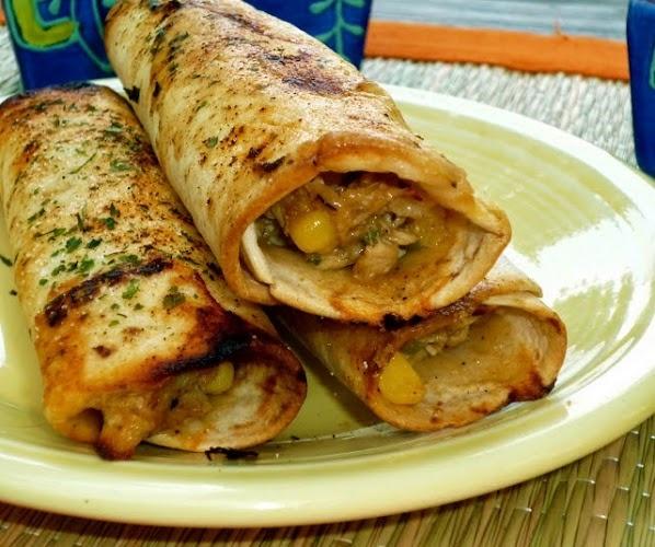 Crispy Chicken Tortilla Roll-Ups | food | Pinterest