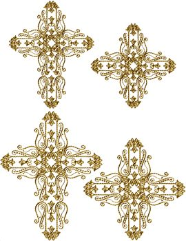 Golden Crosses | Free Embroidery Designs | Pinterest