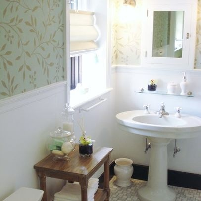 bathroom small pattern wallpaper awesome bathrooms pinterest