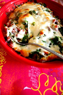 Vegetarian Mexican lasagna. I use whole wheat tortillas instead of ...