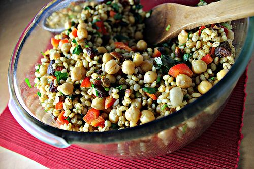 Moroccan Chickpea Barley Salad | Recipes to Attempt... | Pinterest