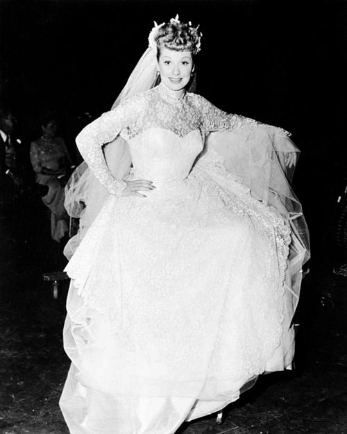 Pin by stacey ziegler on lucille ball pinterest for Lucille ball wedding dress
