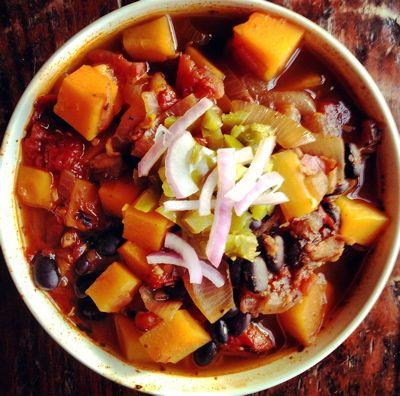 Black Bean Chili with Butternut Squash & Quinoa