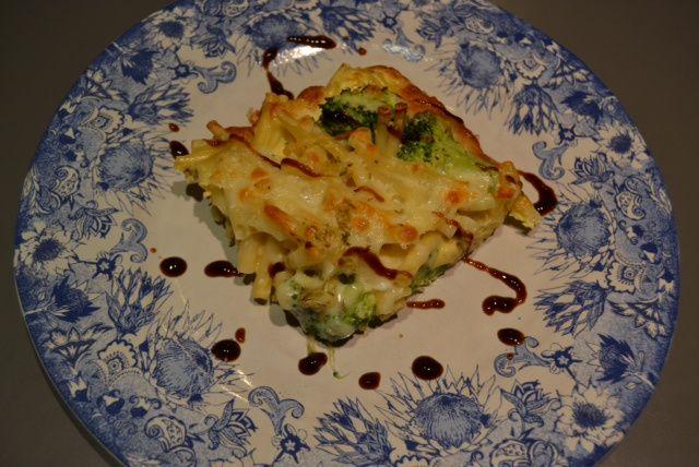 broccoli pasta fritatta 5 | Secret Recipe Club | Pinterest