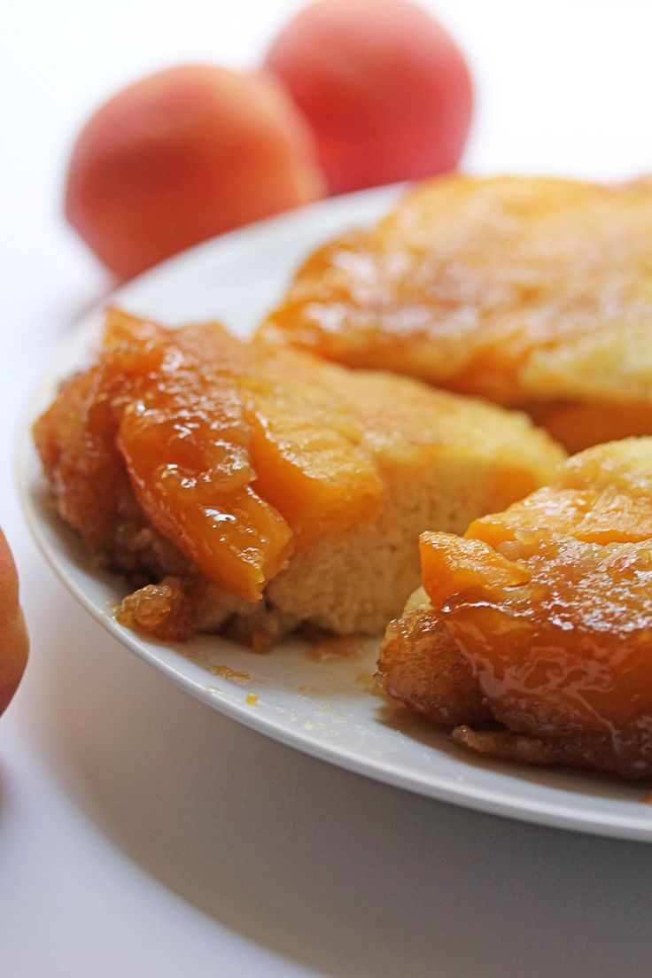 Peach Upside Down Cake~T~ A summer favorite.