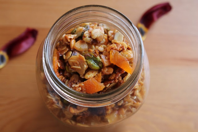 honey olive oil granola with dried apricots and pistachios dining with ...