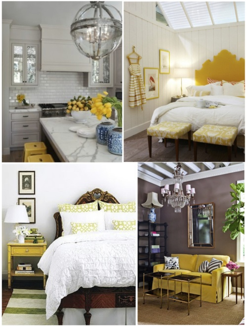 yellow home decor via luxinspired.com