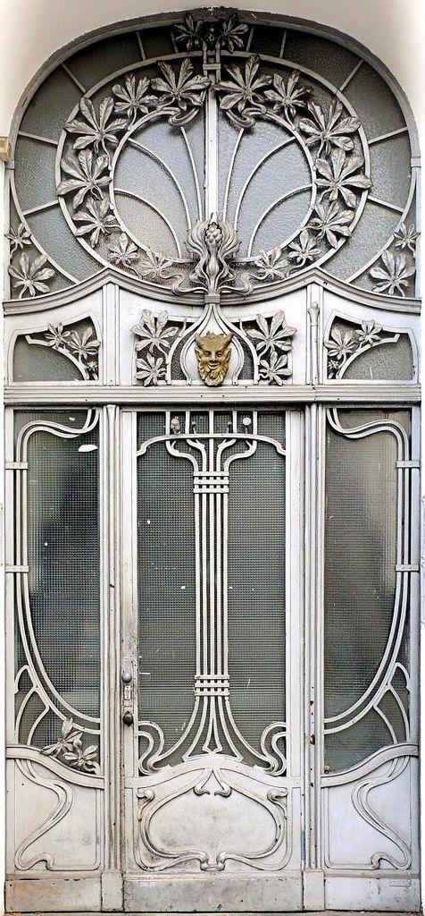 art nouveau door doors and windows pinterest