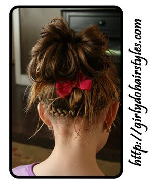 So cool! This little girl is very lucky to have a mom that is so creative with hair. (Jenn come style my haaair!)
