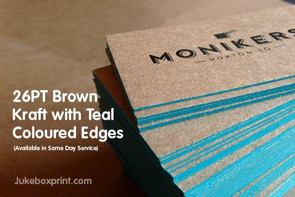 Kraft Edge Printed Business Cards Paper Printing