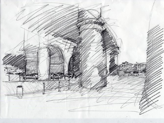 Sketch architecture sketch drawing sketches pinterest for Architecture sketch