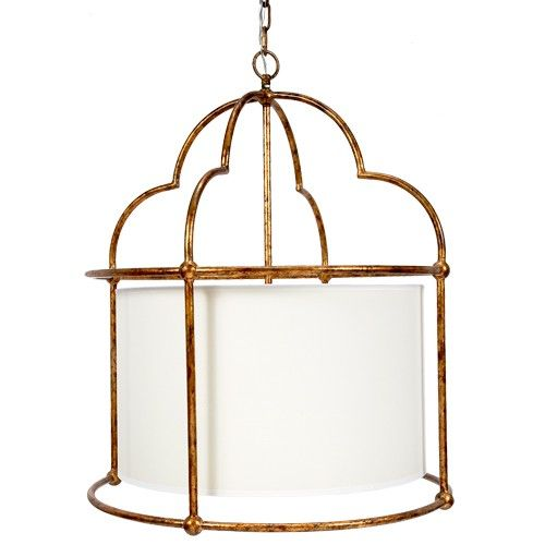 Grace Gold Pagoda Large Barrel Chandelier