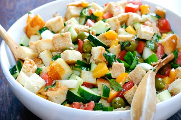 Panzanella: A salad with bread? Count us in! This panzanella recipe ...