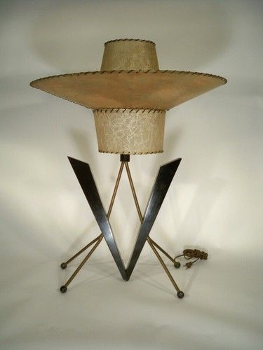 Vintage majestic mid century lamp atomic retro mad men for Eames lampe
