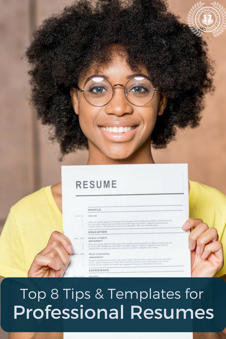 Top 8 Tips and Templates for Professional Resumes. When you are looking for a job, you really want your resume to stand out. A good career can start from one good resume. Take a look at these tips and tricks to improve your resume and make it look professional. #college www.sta.cr/2YvN1