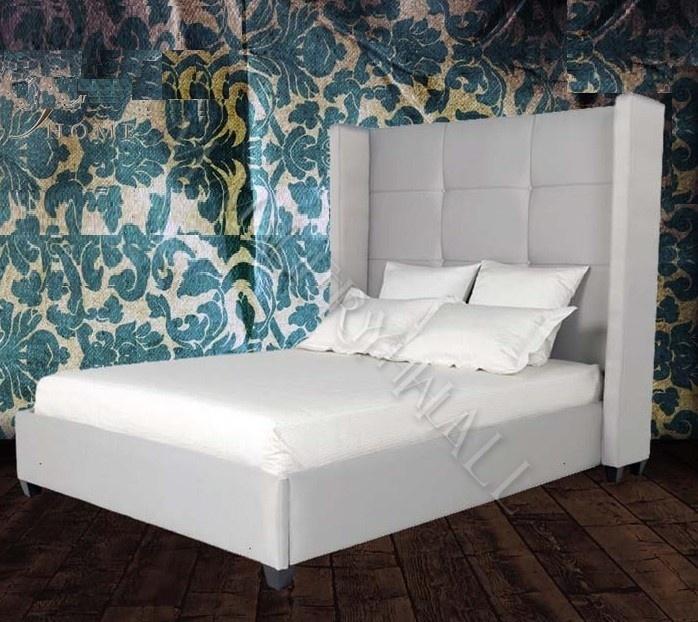 Tufted Tall Headboard Elegant King Bed  bedroom ideas  Pinterest