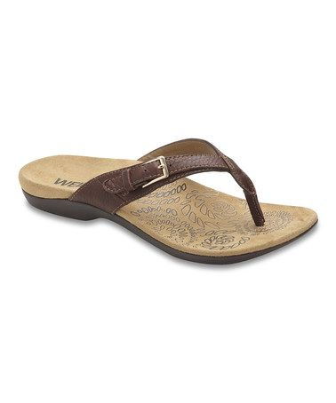 Take a look at this Brown RestoreII Sandal Women by Dr. Andrew