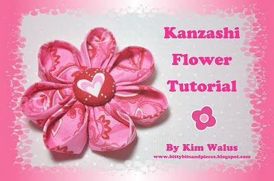 Simple folded flower tutorial