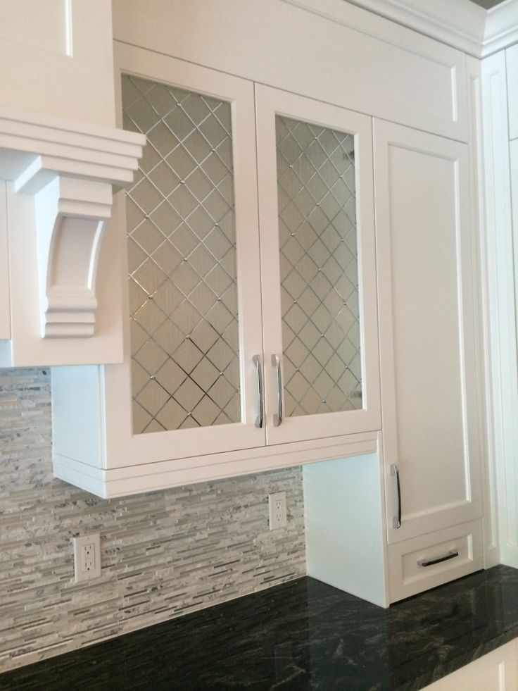 Decorative Cabinet Glass Inserts with rain glass and chrome decorative