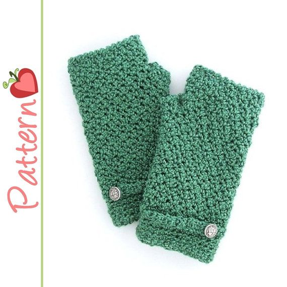 Crocheting Mittens For Beginners : Fingerless Gloves Crochet Pattern Pdf, Great for beginners, Quick to ...