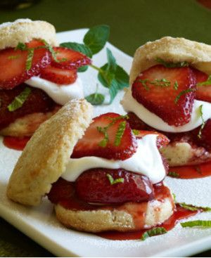 Strawberry Shortcake Sliders - Holidays | Sweets for my Sweets. | Pin ...