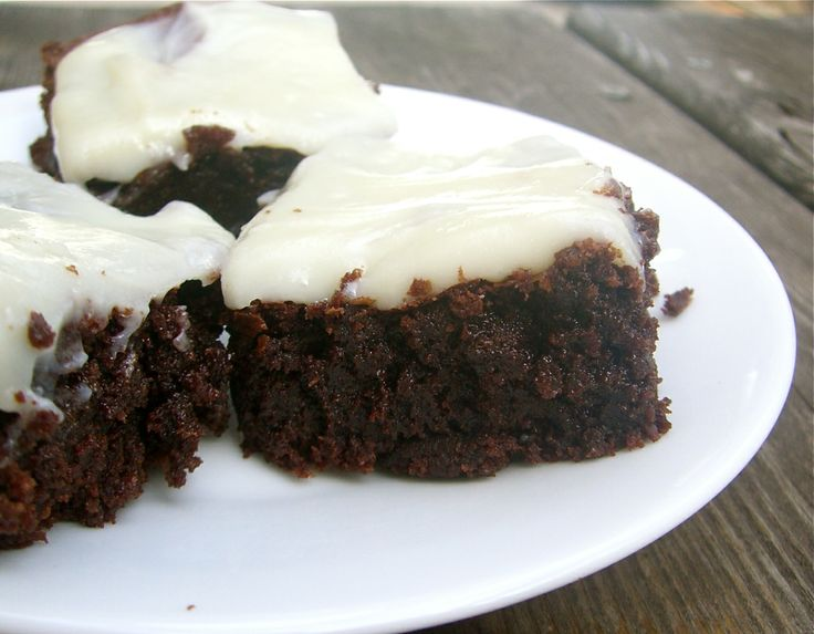 Triple Chocolate Brownies with White Chocolate Cream Cheese Frosting ...