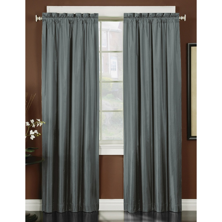 Thermal Backed Iridescent Curtain Panel Pair | Overstock.com
