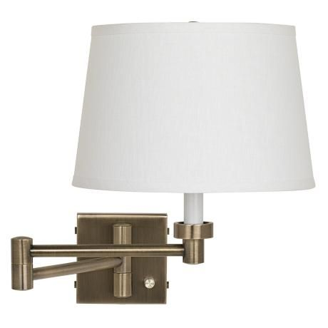 shade plug in swing arm wall lamp could be an option for lighting. Black Bedroom Furniture Sets. Home Design Ideas