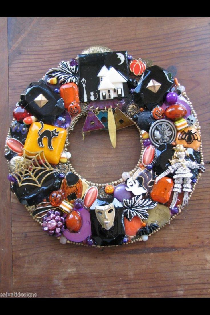 Pin by misty romesburg on halloween diy pinterest - Interesting diy halloween wreaths home ...