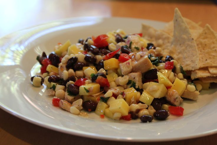 Black Bean and Mango Chicken Salad | Salads | Pinterest