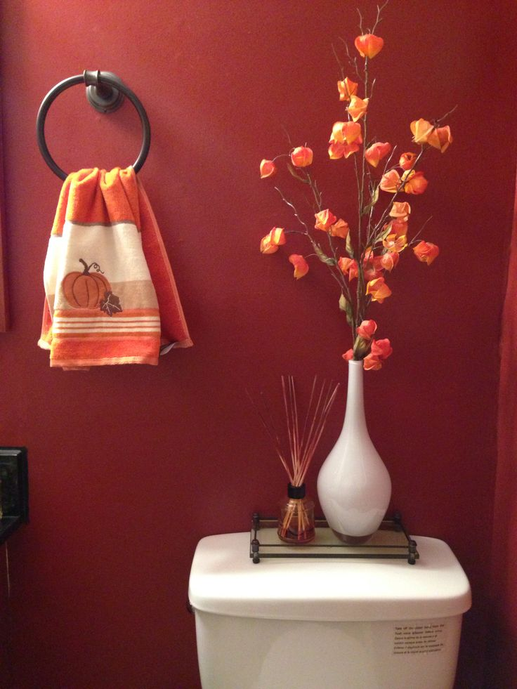 Bathroom toilet decor for the fall season bathrooms our for Fall bathroom sets
