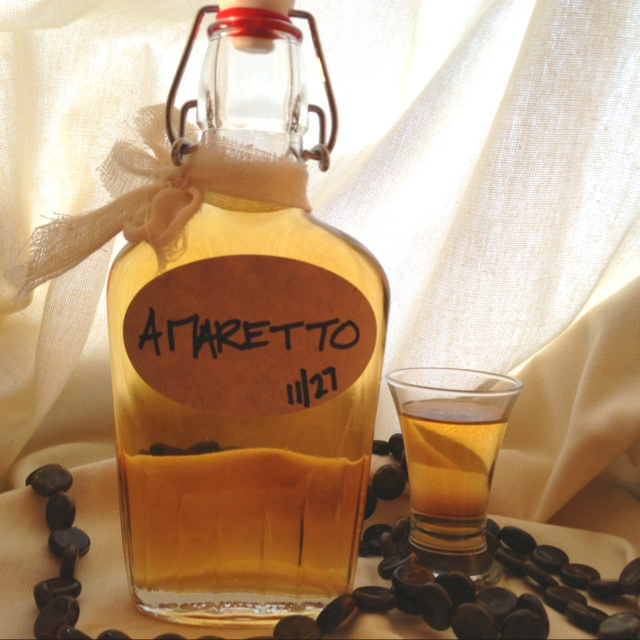 The Homemade Amaretto I made last month. Recipe found at www ...