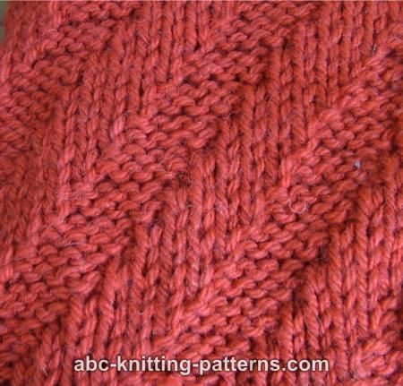 DIAGONAL RIBBING KNITTING Free Knitting Projects