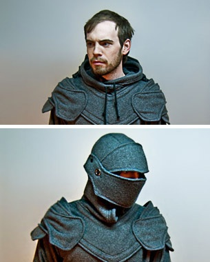 This is a riot! Grey Knight Armored Hoodie