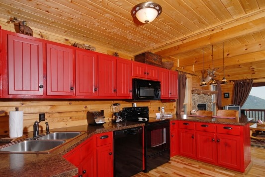 country red kitchen i love this decorating 101