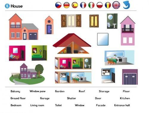 Les lieux de la maison la maison prep de location for Anglais vocabulaire maison
