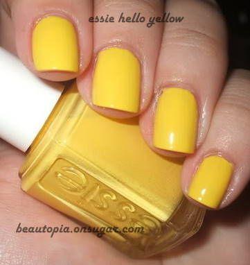 Yellow Essie Nail Polish 101