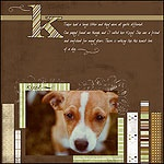 Tiny Boss-erina scrapbook page layout sample idea created with PDQ ...