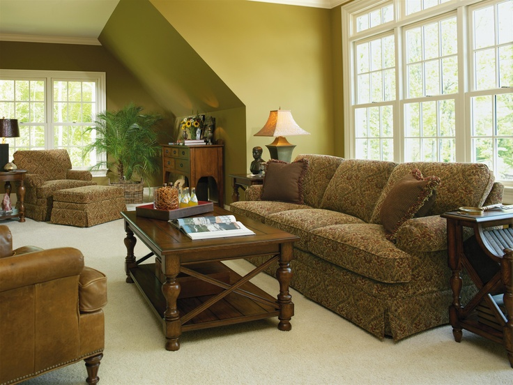 Richmond 82 Inch Stationary Sofa with Rolled Arms by Flexsteel - Powell's Furniture - Sofa Fredericksburg, Richmond, Charlottesville, Virginia and Maryland