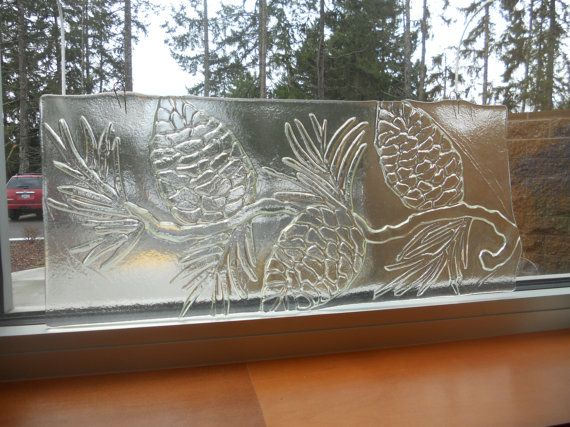Pinecone textured glass panel for Textured glass panels