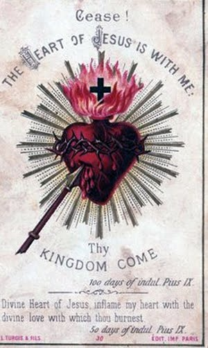 Divine Heart of Jesus, inflame my heart with the Divine love with which thou burnest.
