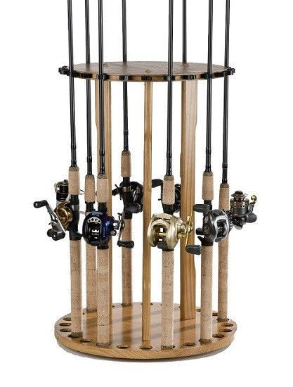 Fishing rod storage organizer holder rack fly pole carrier for Fly fishing rod holder