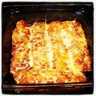 Skinny Eatz - Turkey and Black Bean Enchiladas - The Kitchen Table ...