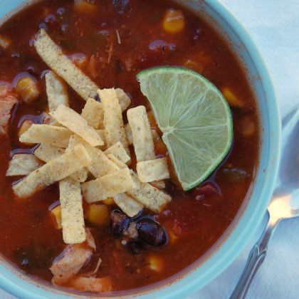 """Slow-Cooker Chicken Tortilla Soup. 