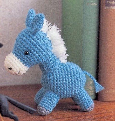 Free Crochet Pattern For Horse : Amigurumi Pony Horse Plush Crochet Pattern PDF