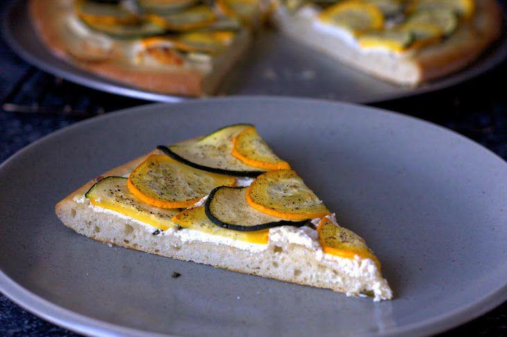 Lemony Zucchini Goat Cheese Pizza | Octo/Lacto Vegetarian Recipes | P ...