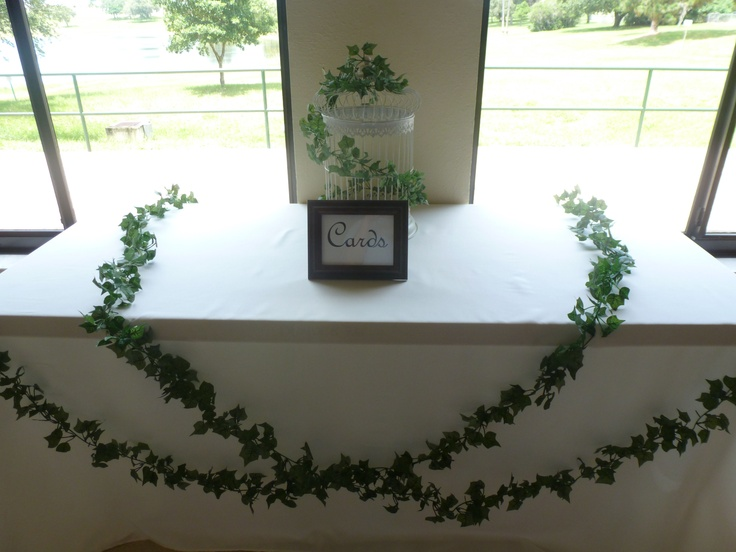 Wedding Gift Table Ideas Pinterest : Ivy Gift Table